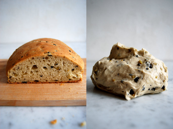 Black + Green Olive Bread