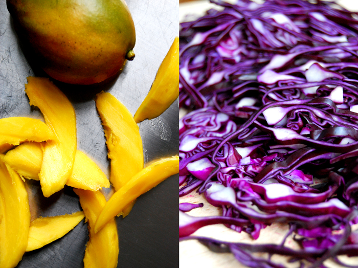 Red Cabbage + Mango Salad