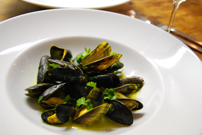 Mussels with Ginger, Lemon Grass + Coriander