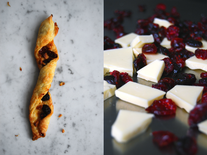 White Chocolate + Cranberry Twists