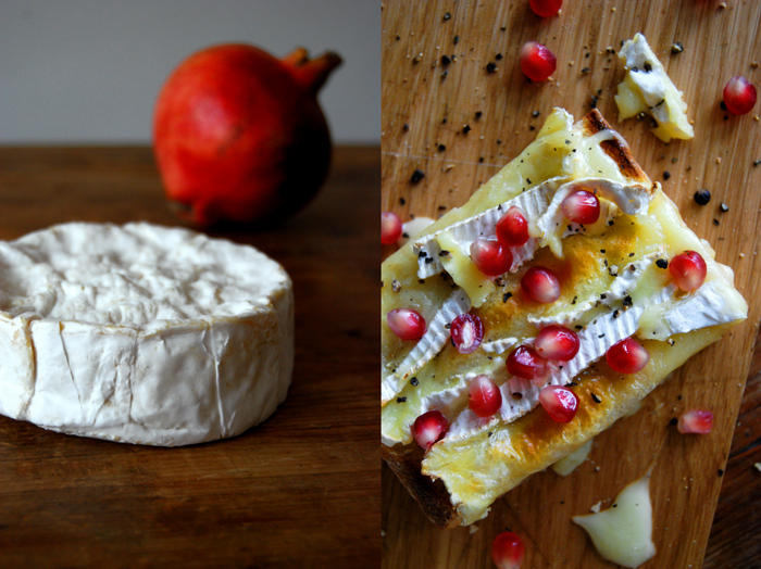 Camembert + Pomegranate Sandwich
