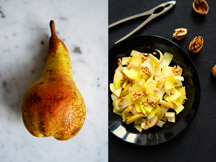Chicory, Pear + Walnut Salad