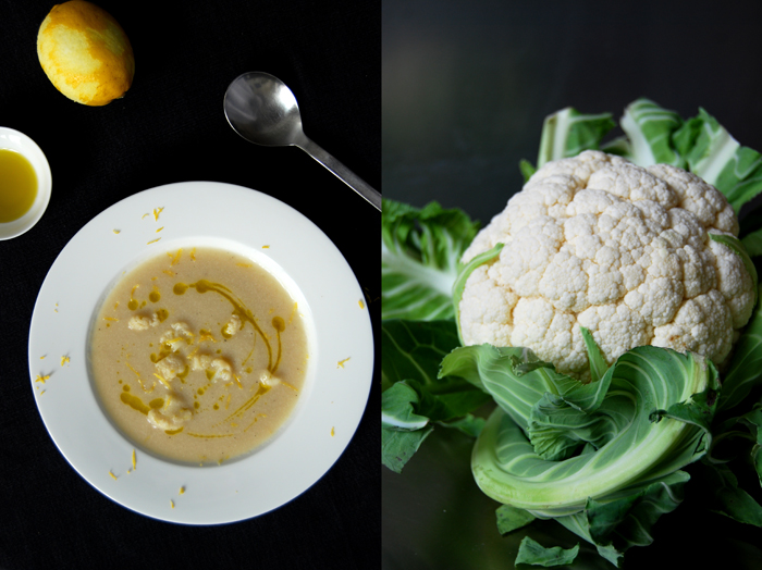 Ginger Lemon Cauliflower Soup