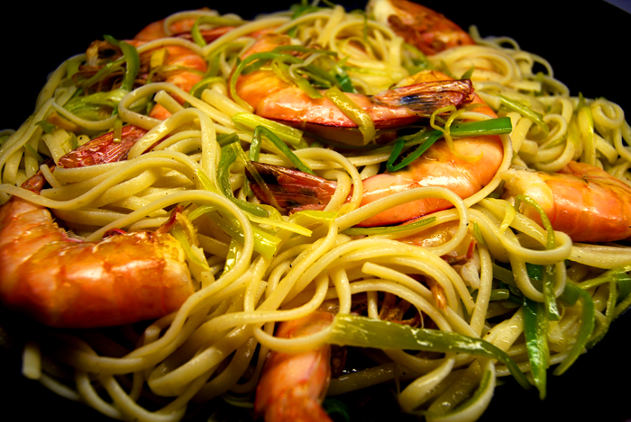 King Prawn, Ginger + Leek Pasta