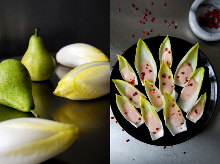 Chicory with Pear + Red Pepper
