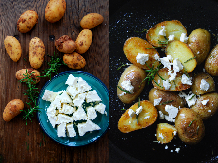 Rosemary Potatoes with Feta Cheese