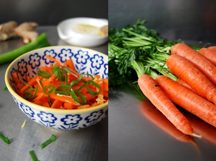 Ginger Carrot Salad with Spring Onions