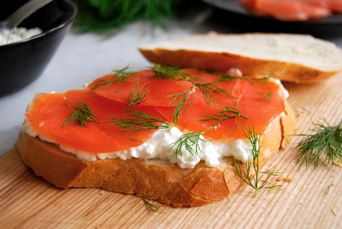 Smoked Wild Salmon Sandwich