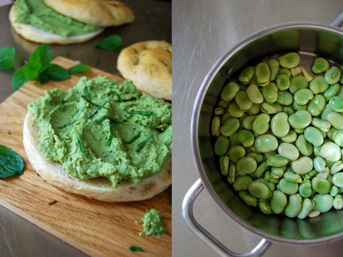 Fava Bean Pesto with Mint