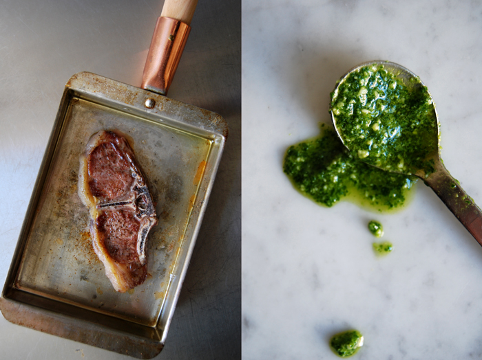 Lamb Chops with Rucola Pesto