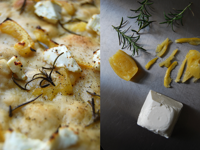 Pizza Bianco with Lemon, Chevre +Rosemary