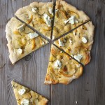 Pizza Bianco with Lemon, Chèvre + Rosemary