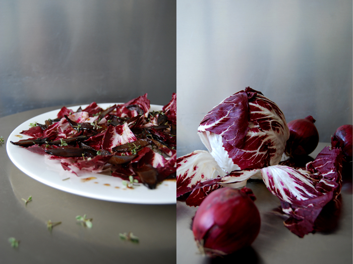 Radicchio with Caramelised Red Onions + Thyme