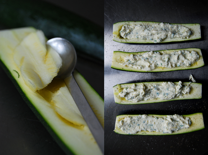 Zucchini stuffed with Lemon Ricotta
