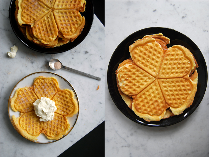 Waffles with Cinnamon Sugar