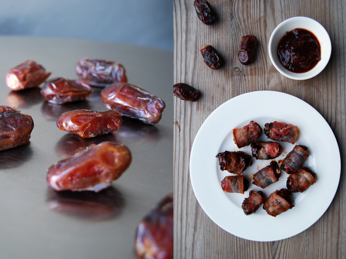 Dates wrapped in Bacon with Chutney
