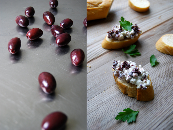 Kalamata Olive + Cottage Cheese Sandwich