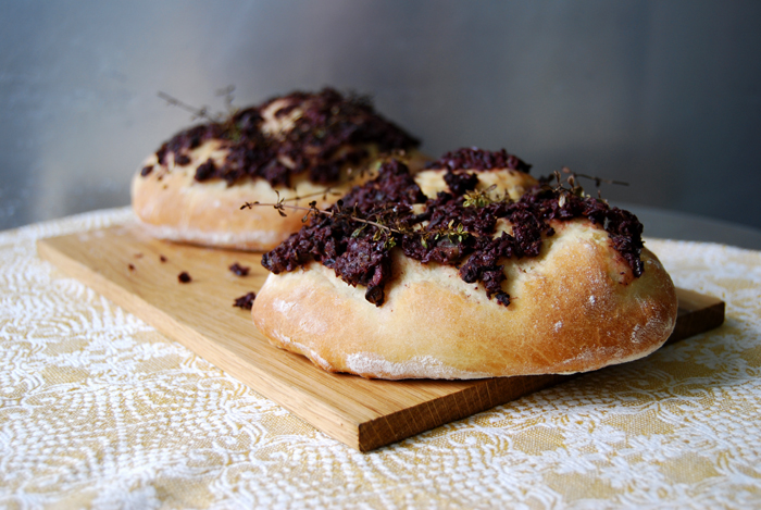 Sfincione with Tapenade