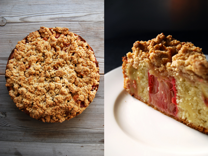 Rhubarb Crumble Cake Truly Addictive Meike Peters Eat In My Kitchen