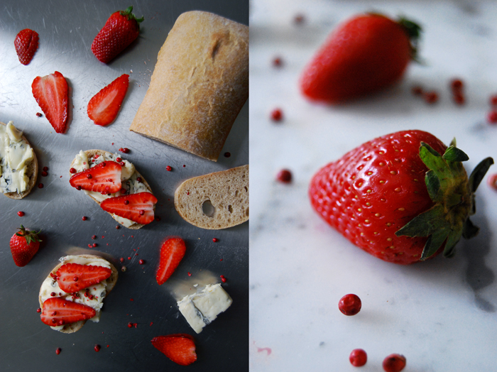 Strawberry Gorgonzola Sandwich