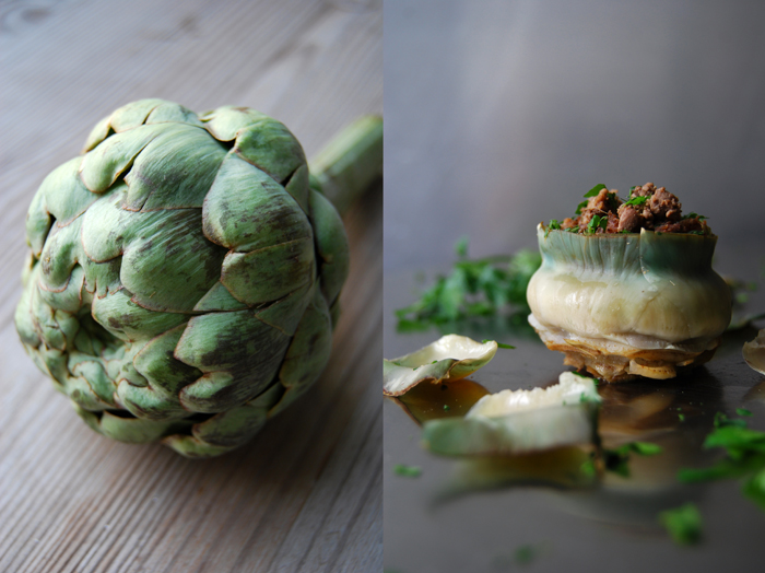 Maltese Stuffed Artichokes