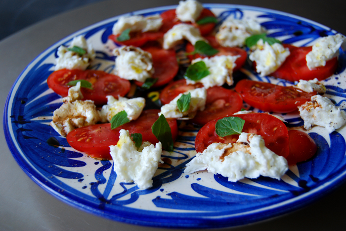 Buffalo Mozzarella, Tomato + Mint Salad