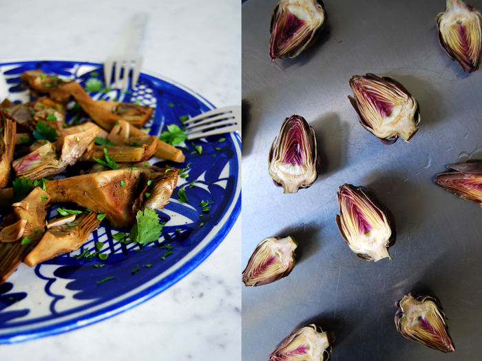 Warm Salad with Artichokes in Vermouth