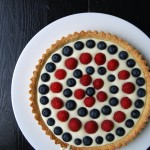 Raspberry + Blueberry Tart with Bavarian Cream