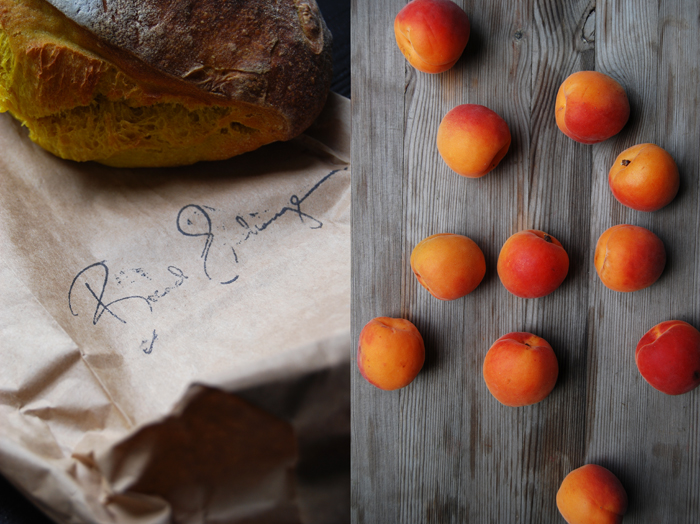 Roast Cardamom Apricots on Turmeric Bread