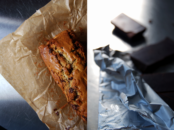 Chocolate Fruit Loaf with Dates + Prunes