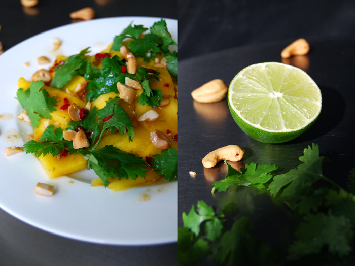 Mango Salad with Coriander + Roasted Cashews