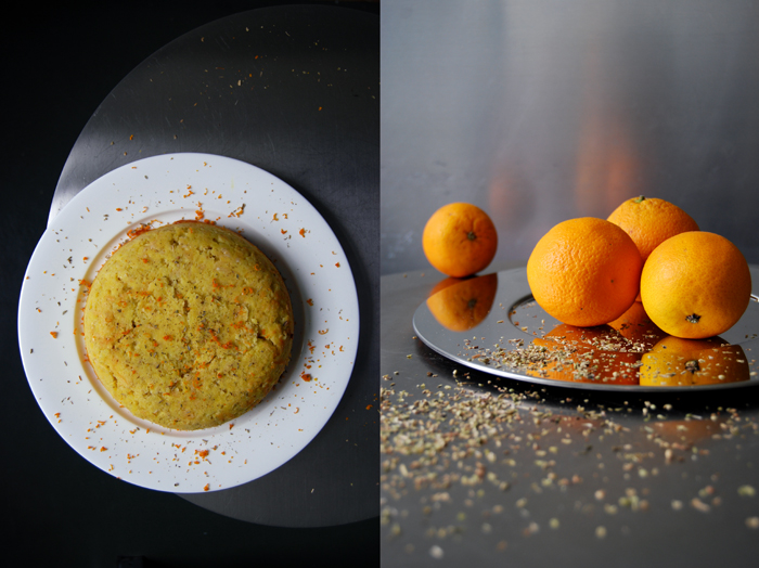 Potato Cake with Orange and Oregano