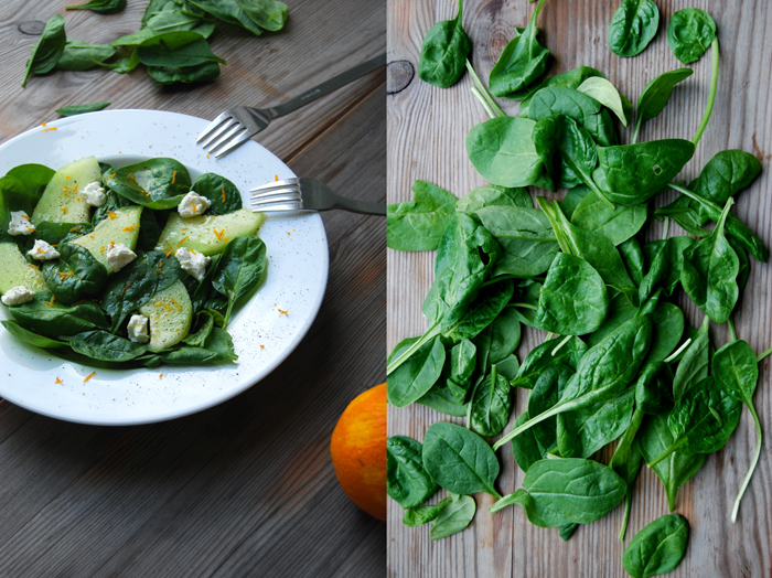 Spinach + Melon Salad with Mascarpone