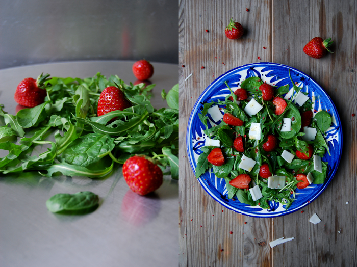 Spinach, Strawberries + Goat Cheese