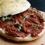 Dried Tomato Pesto on Focaccia