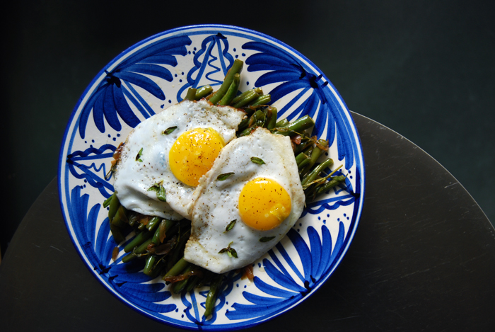 Pastis Beans with Herbs + a Fried Egg
