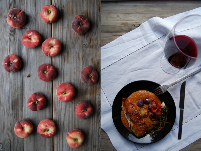 Roast Chicken with Peaches