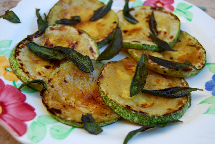 Golden Zucchini with crisp Sage