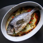 Baked Sea Bream with Mint and Parsley