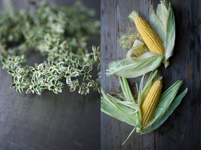 Sweet Corn with Lemon Thyme Butter