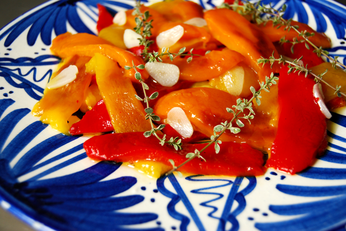 Grilled Bell Pepper with Garlic and Thyme