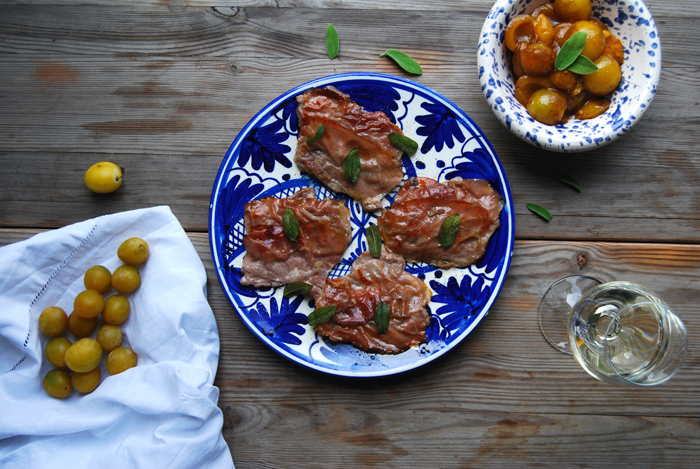 Saltimbocca alla Romana with Mirabelle