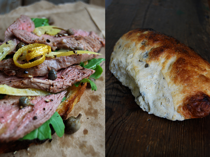 Lamb, Lemon, Rucola and Caper Sandwich