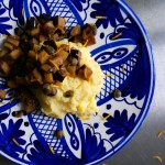 Cumin Orange Aubergine with Polenta
