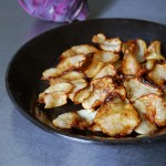 Maple Syrup Caramelized Kohlrabi Chips
