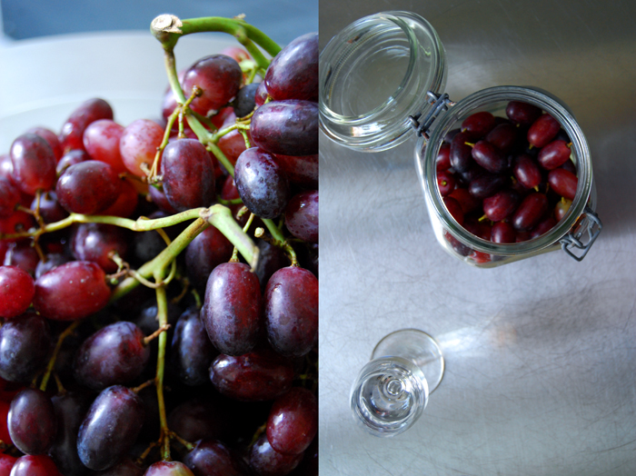 Grapes in Ouzo