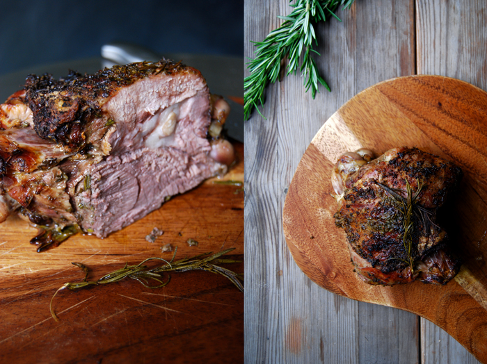 Roast Rosemary Lamb with Garlic and Tomatoes
