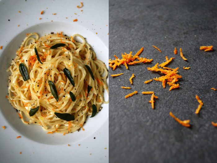 Mascarpone, Orange and Sage Spaghetti