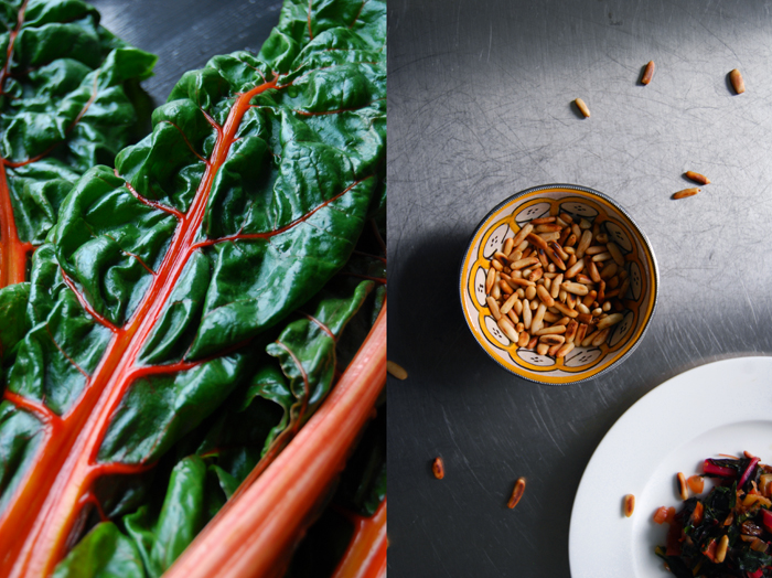 Sicilian Chard with Pine Nuts and Raisins