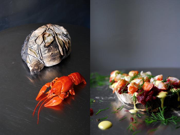 Crayfish and Beetroot Mousse Sandwich
